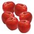 ARTIFICIAL APPLE RED (SET 6 PIECES) 8CM
