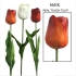ARTIFICIAL TULIP BRANCH REAL TOUCH (3 COLOURS) 66CM