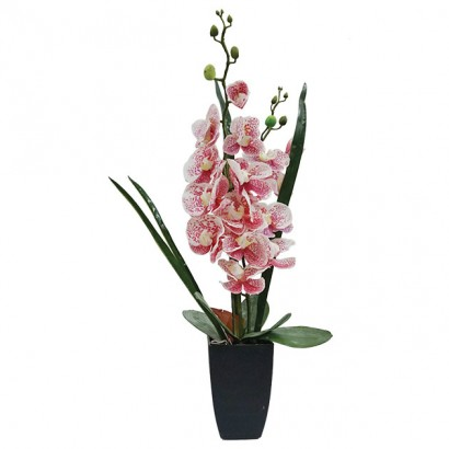 ORCHID REAL TOUCH IN FLOWER POT PINK 60CM - 1