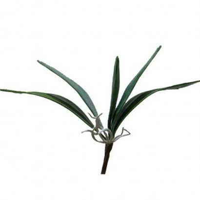 ARTIFICIAL ORCHID LEAF BRANCH 25CM - 1
