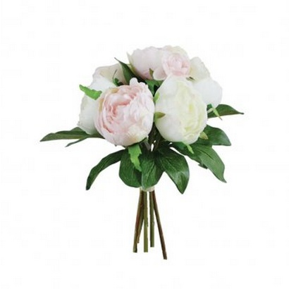 ARTIFICIAL PEONY BOUQUET PINK 32CM - 1