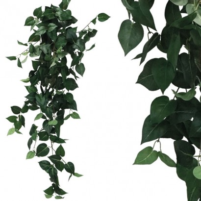 ARTIFICIAL HANGING POTHOS GREEN 100CM