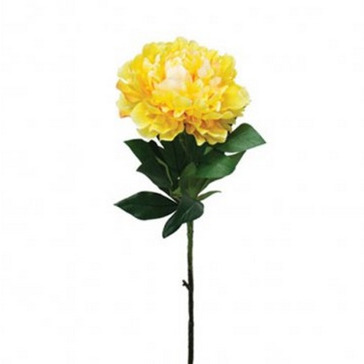 ARTIFICIAL PEONY BRANCH YELLOW 77CM - 1