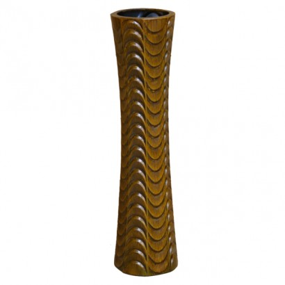 CERAMIC FLOOR VASE BROWN 75CM - 1