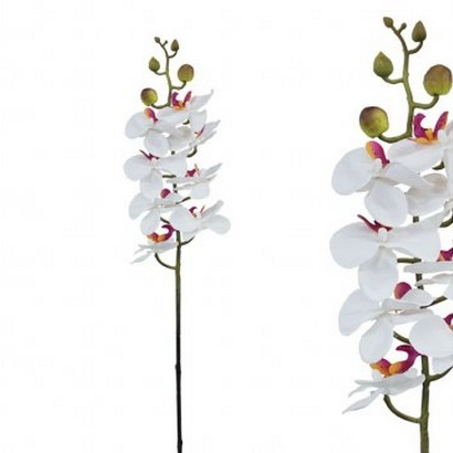 ARTIFICIAL ORCHID BRANCH WHITE 76CM - 1