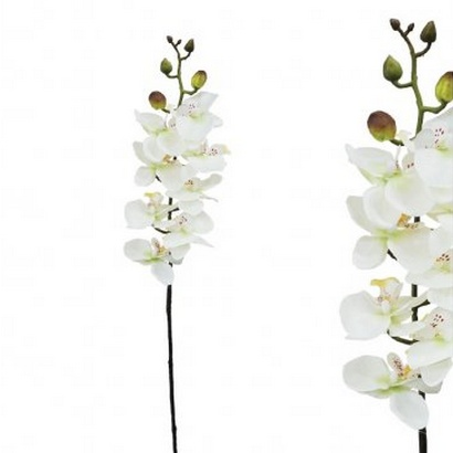 ARTIFICIAL ORCHID BRANCH CHAMPAGNE 76CM - 1