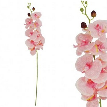 ARTIFICIAL ORCHID BRANCH PINK 90CM - 1