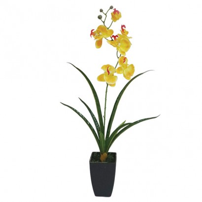 ORCHID IN FLOWER POT YELLOW 73CM