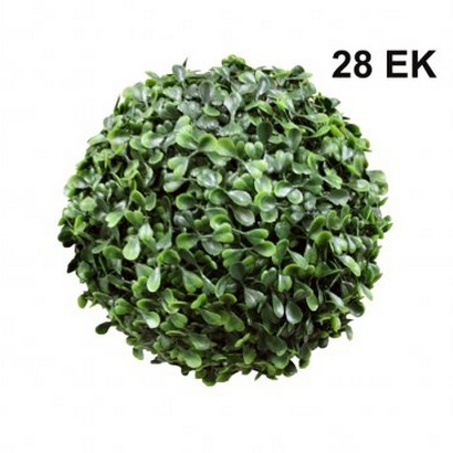 ARTIFICIAL GREEN BALL TREFOIL 28CM