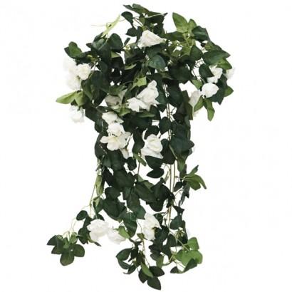 ARTIFICIAL HANGING ROSE TREE WHITE 72CM - 1