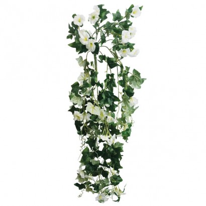 ARTIFICIAL HANGING NIGHT FLOWER WHITE 80CM - 1