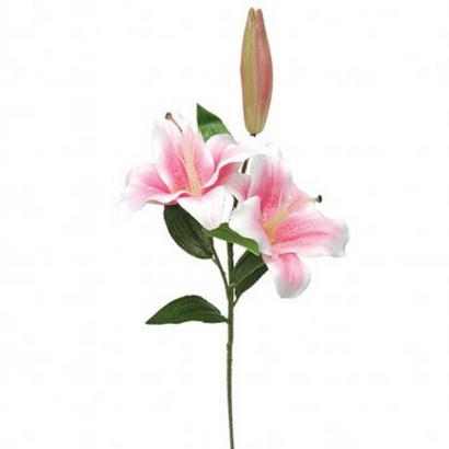 ARTIFICIAL LILY BRANCH PINK 80CM - 1