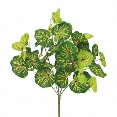 ARTIFICIAL BEGONIA BOUQUET GREEN 45CM - 1