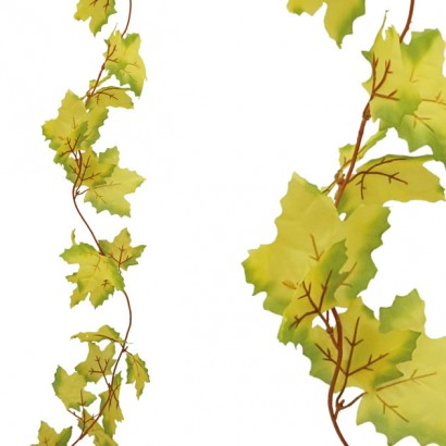 ARTIFICIAL PLATANUS GARLAND GREEN-YELLOW 100CM - 1