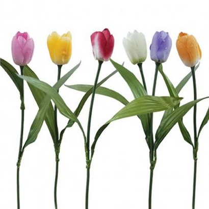 ARTIFICIAL TULIP BRANCH (6 COLOURS) 50CM - 1