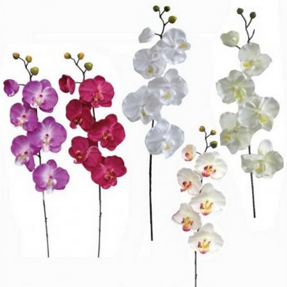 ARTIFICIAL ORCHID BRANCH (5 COLOURS) 72CM - 1