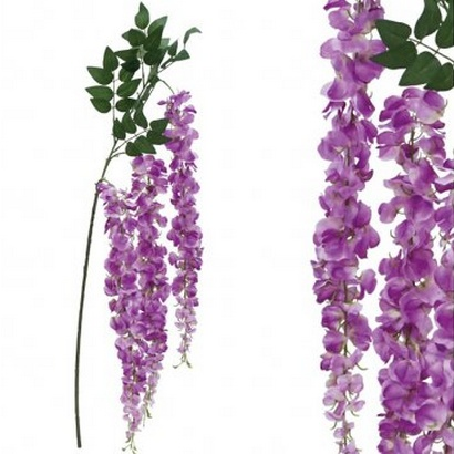 ARTIFICIAL WISTERIA BRANCH PURPLE 150CM - 1