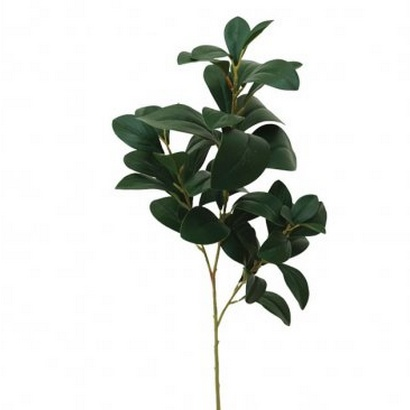 ARTIFICIAL LEAF BRANCH GREEN 67CM - 1