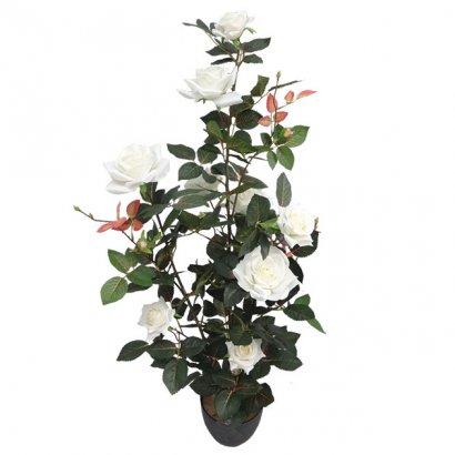 ARTIFICIAL ROSE TREE CREAM 90CM - 1