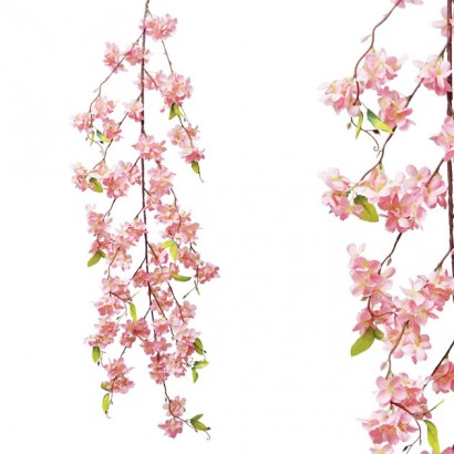 ARTIFICIAL ALMOND GARLAND PINK 165CM - 1