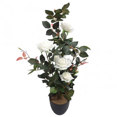 ARTIFICIAL ROSE TREE CREAM 75CM - 1