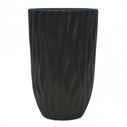 CERAMIC FLOOR VASE BLACK 15x30CM - 1