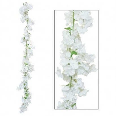 ARTIFICIAL FLOWER GARLAND DELPHINIUM 195CM - 1