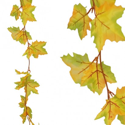 ARTIFICIAL PLATANUS GARLAND YELLOWGREEN 110CM - 1
