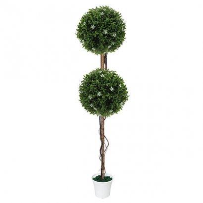 ARTIFICIAL WHITE TREE FLOWER Φ28CM 130CM - 1