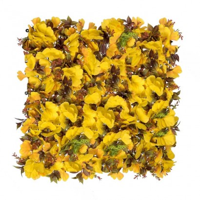 VERTICAL GARDEN FLOWER YELLOW 50X50CM - 1