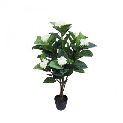 ARTIFICIAL ORTENSIA PLANT REAL TOUCH CREAM 107CM - 1