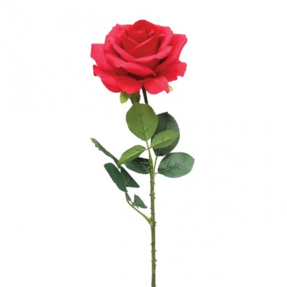 ARTIFICIAL ROSE BRANCH RED 67CM - 1