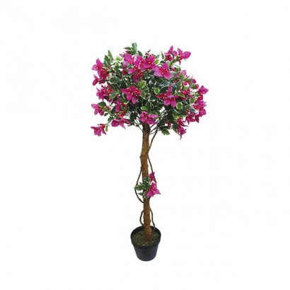 ARTIFICIAL BALL TREE BOUGAINVILLEA FUCHSIA 120CM - 1