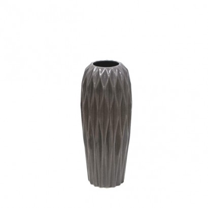 CERAMIC FLOOR VASE GREY 34CM - 1