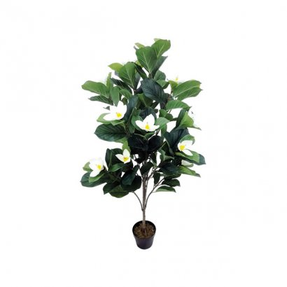 ARTIFICIAL PLUMERIA PLANT CREAM 140CM - 1