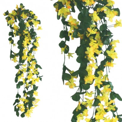 ARTIFICIAL HANGING LILY YELLOW 100CM - 1