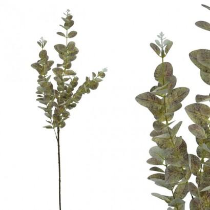 ARTIFICIAL EUCALYPTUS BRANCH GREEN/PURPLE 90CM - 1