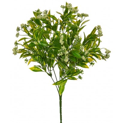 ARTIFICIAL GYPSOPHILA BOUQUET GREEN 35CM