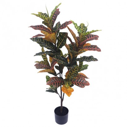 ARTIFICIAL CROTON PLANT REAL TOUCH 120CM - 1