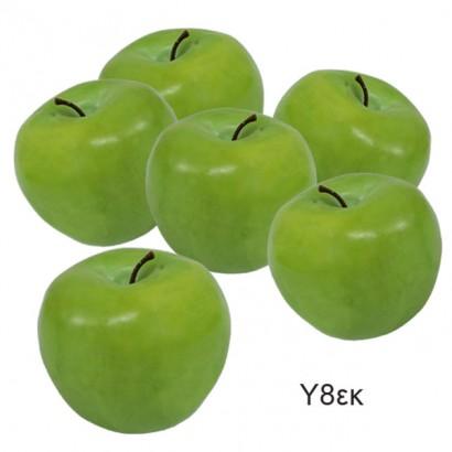 ARTIFICIAL APPLE GREEN (SET 6 PIECES) 8CM - 1