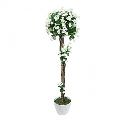 ARTIFICIAL BALL TREE CREAM FLOWER 127M - 1