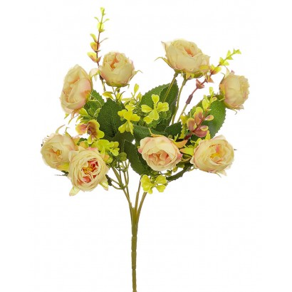 ARTIFICIAL RANUNCOLI BOUQUET CREAM 32CM - 1