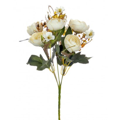 ARTIFICIAL RANUNCOLI BOUQUET CREAM 35CM - 1