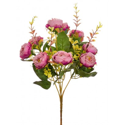 ARTIFICIAL RANUNCOLI BOUQUET FUCHSIA 32CM - 1