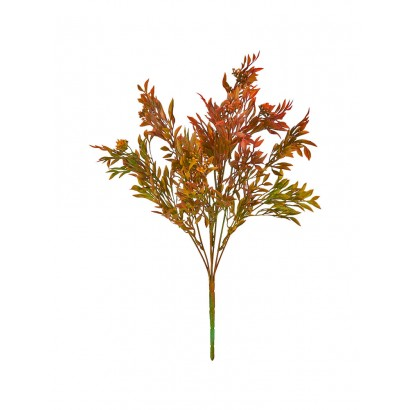 ARTIFICIAL GREENERY BOUQUET RED 39CM - 1