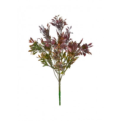 ARTIFICIAL GREENERY BOUQUET PURPLE 39CM - 1
