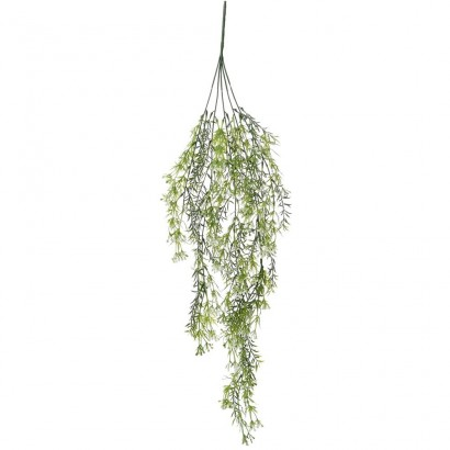ARTIFICIAL HANGING GREENERY WITH FLOWER WHITE 78CM - 1