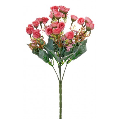 ARTIFICIAL ROSE BOUQUET PINK 30CM - 1